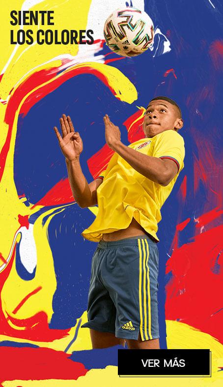 Indumentaria Federación Colombiana de Fútbol para niños, camiseta amarilla de la Selección Colombiana de Fútbol