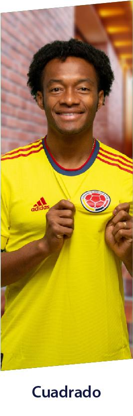 Juan Guillermo Cuadrado con camiseta adidas selección colombia, productos del jugador.